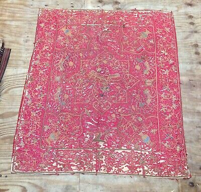 Antique Chinese Large Metal Thread Textile