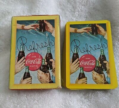 Vintage 1958 Coca Cola Playing Cards Refresh Open But Unplayed