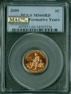 2009 Lincoln Cent Formative Years Pcgs Ms66 Pq Mac Spotless  .