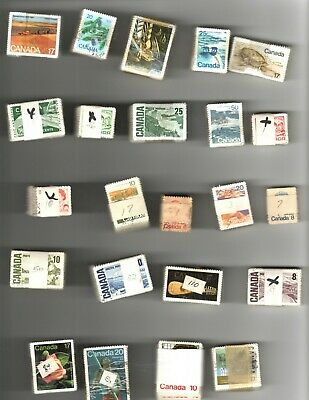 23 Different Used Canadian Stamp Bundles