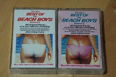 'The Very Best Of The Beach Boys Volumes 1 & 2' Compilation Audio Cassette Tapes