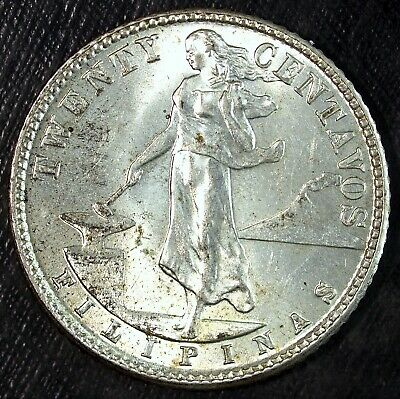 1944 D 20 Centavos United States of America Philippines ☆☆ Great For Sets 126