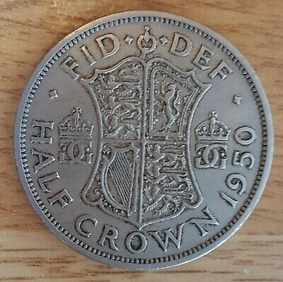 Pre Owned. Original English Half Crown Coin 1950.