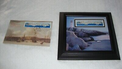 Canada post Limited Edition Framed Print of Tall Ships #1864 and 1865