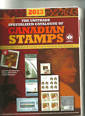 2013 Unitrade Specialized Catalog of Canadian Stamps with Scott numbers
