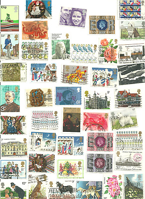 94 Mostly Different Postage Stamps from Great Britain #695-905.