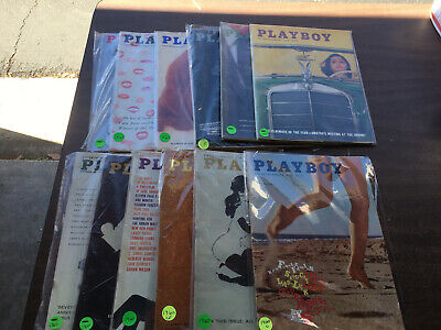 Playboy Magazine Full Year Set 1960 All 12 Issues. Complete Collection. Nude Lot