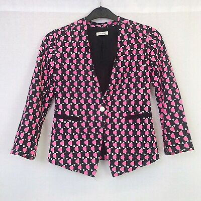 River Island Girls Black Pink & White Polka Dot Spotty Jacket Age 8 Years