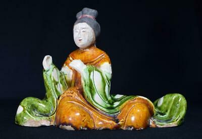 Ancient Chinese Tang Dynasty Statue Sancai Glaze c618-907 AD with Provenance