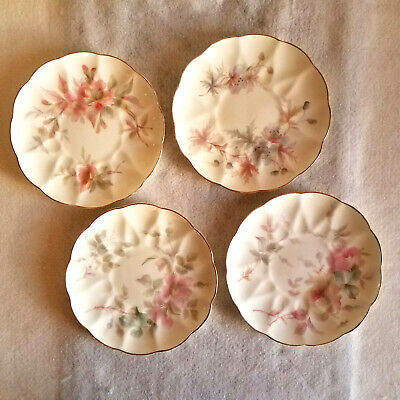 Royal Worcester China Works England Set of 4 Vintage Plates-6 5/8 inches dia.