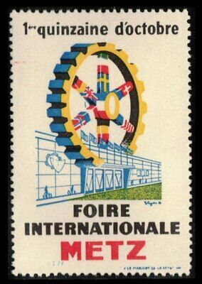 """France, Metz """"Foire Internationale"""" Very Scarce Old Poster Stamp"""