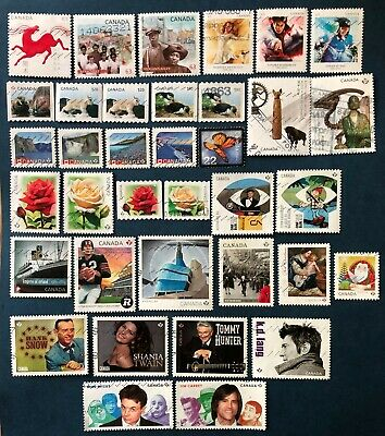Canada 2014 - 36 Used Stamps With 4 Sets
