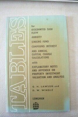 A book of tables for discounted cash flows for bankers/estate agents, finance