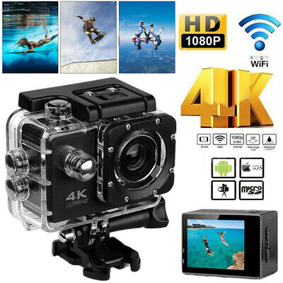 4K Ultra HD Wifi Action Camera Waterproof Sports DVR Camcorder 16MP Video Cam UK