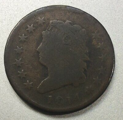 Genuine Circulated 1814 Classic Head Large Cent FREE SHIPPING! LC01