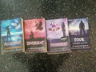 Divergent Series Set 4 Books by Veronica Roth-No 1 New York Times BESTSELLER