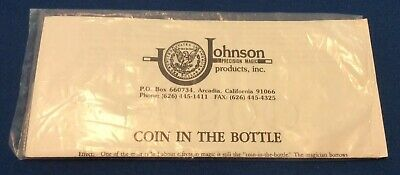Coin In Bottle US Half (Gimmick Needs Rubber Band) by Johnson Products
