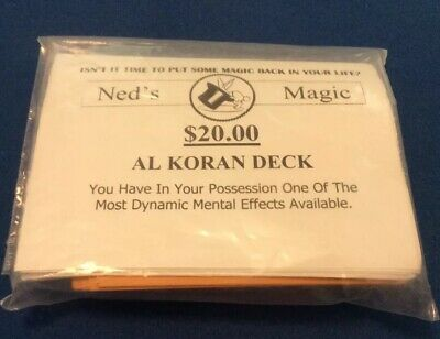 Al Koran Deck (Gimmicks and Printed Instructions) by Ned's Magic