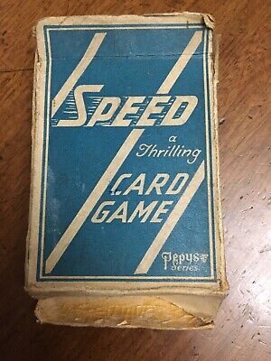 Vintage Speed Pepys Card Game, Complete, Rules, Boxed, Possibly First Edition