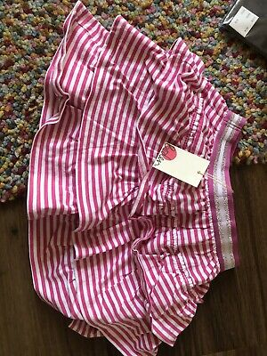 🌺 Boden Girls Skirt Pink and White Colour Ruffle Skirt Age 7-8 Good Condition