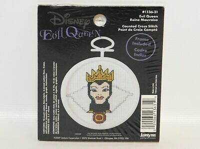 Janlynn Disney  Evil Queen Mini Counted Cross Stitch Kit