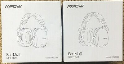 TWO SETS OF MPOW EM5002B EAR MUFFS NOISE PROTECTION/REDUCTION 28d NEVER USED