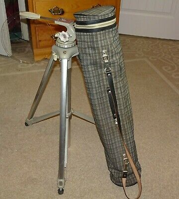 Linhof professional camera Tripod ~ 1950's West Germany With Bag.