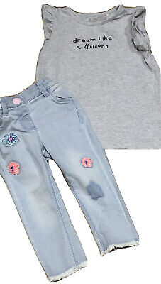 Baby Girls Next Top And Jeans Bundle Size 9-12 Months