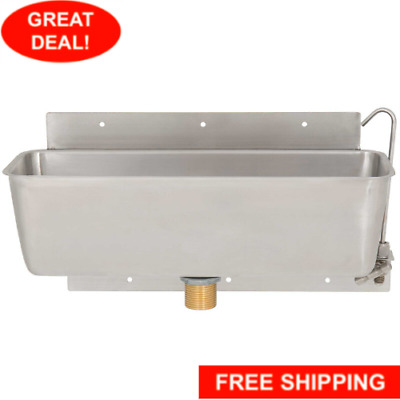 """Regency 15"""" Stainless Steel Ice Cream Dipper Well and Faucet Set"""