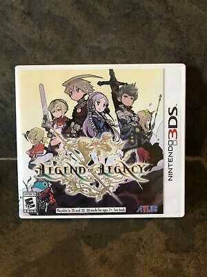 The Legend Of Legacy ( Nintendo 3DS , 2015) Atlus game . Authentic .