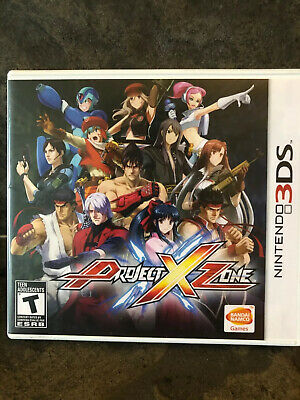 Project X Zone ( Nintendo 3DS) Like New . Authentic . 100% Complete .
