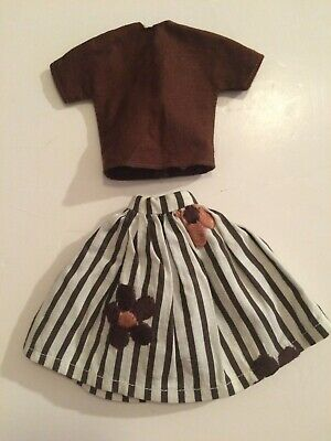 1960'S VINTAGE BARBIE SKIRT & TOP (Very Good Condition)