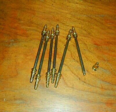 6 Vintage Door Hinge Pins Steeple Top Hardware