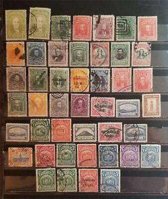 BOLIVIA Early Stamp Lot Used MH T67