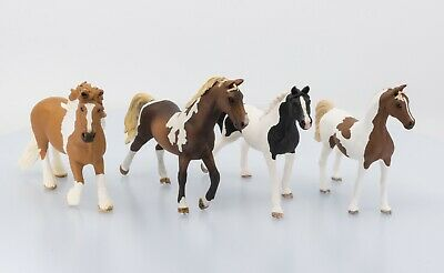Schleich Pinto Horses Lot of 4