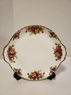 Royal Albert Old Country Rose Two Handled Cake Plate