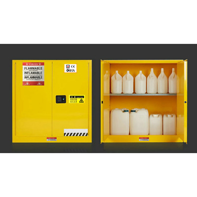 30Gallon Laboratory Flammable Cabinet,Fireproof Chemical Safety Cabinet New