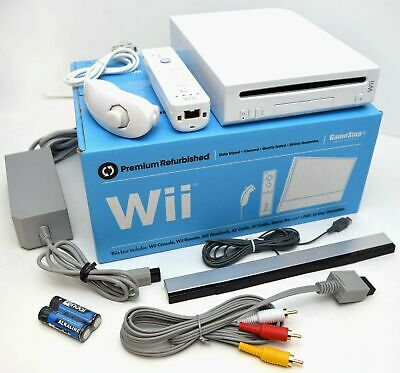 Nintendo Wii WHITE Video Game Console System Bundle Online RVL-001 GameCube Port
