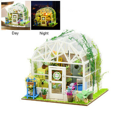DIY Handcraft Miniature Project Dolls House Wooden Villa Realistic 3D Xmas Gifts