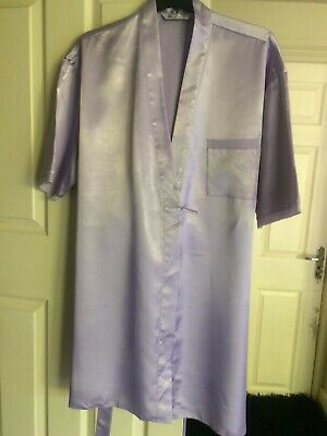 Pretty Lilac Summer  Dressing Gown - Housecoat - Bhs - Size 12-14
