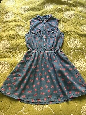 New Look Generation Girls Light Blue Shirt Slevess Dress Light Blue Floral 14 Y