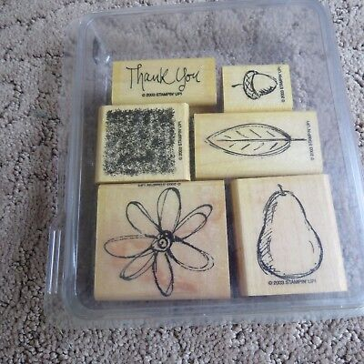 Stampin' Up! ALL NATURAL (set of 6) 2003 Stamps - RETIRED - Gently Used!