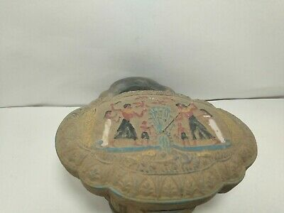 RARE ANTIQUE ANCIENT EGYPTIAN Statue Jewelry Box Tutankhamun 1297-1280 Bc