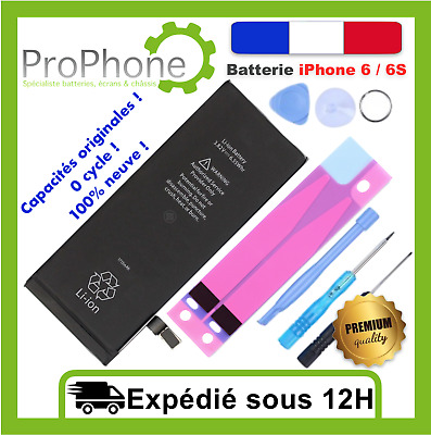 BATTERIE INTERNE iPhone 6 / 6S - 100% Neuve + Sticker + kit outils  ✅⭐