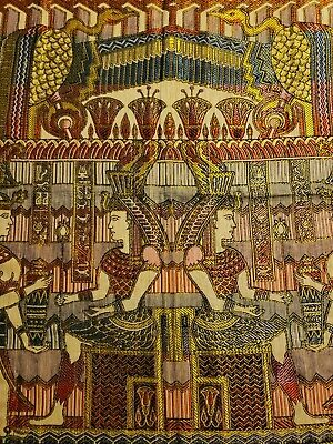 Egyptian Wall Hanging Tapestry Vintage Handmade Art Appliqué Textile Decor 44 in