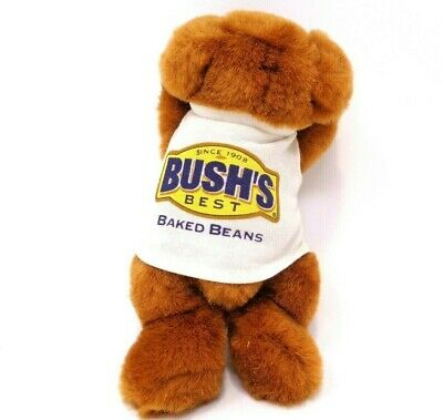 "DUKE the Bush's Baked Beans Mascot Dog ""RIP"" (8 inch) 1999~Plush Toy~Advertising"