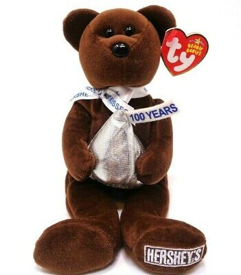 Ty Walgreens Exclusive Beanie Baby ~ Cocoa Bean the Hershey's Kisses Bear ~2007