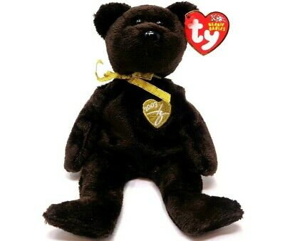 Ty Beanie Baby ~ 2003 Signature Bear (8 inch) Mint Tags ~ Plush Toy ~ Retired