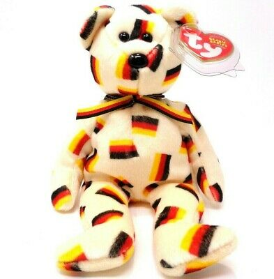 Ty Beanie Baby ~ Deutschland the Bear (8 inch) 2003~Mint Tags~Plush Toy~Retired