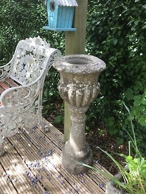 A Reclaimed Garden Urn on Plinth